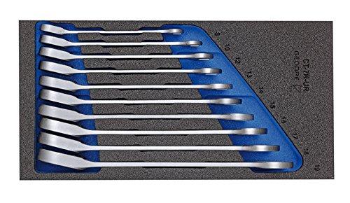 GEDORE 1500 CT1-7 UR Satz Maulschlüssel mit Ringratsche in Check-Tool-Modul, 1 Stück