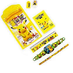 Aapno Rajasthan Yellow Pikachu Pouch Box & Rakhi Kids Hamper