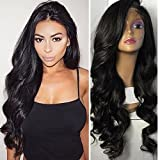 Helene Hair 2016 Sexy Loose Deep Wave Bob Wig Glueless Full Lace Wigs with Baby Hair Human Hair Lace Wigs for Black Women 150% Density ( 22')