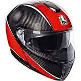 AGV Sports Modular Aero Carbone/Rouge Moto Casque Taille 58