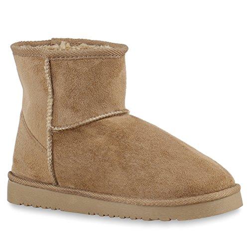 Damen Schuhe Schlupfstiefel Warm gefüttert Khaki Khaki