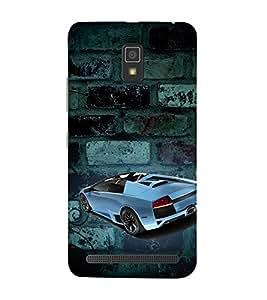 Sports Car Graffiti 3D Hard Polycarbonate Designer Back Case Cover for Lenovo A6600 :: Lenovo A 6600