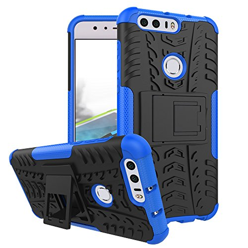 Preisvergleich Produktbild Huawei Honor 8 Handy Tasche, FoneExpert® Hülle Abdeckung Cover schutzhülle Tough Strong Rugged Shock Proof Heavy Duty Case für Huawei Honor 8 (Blau)