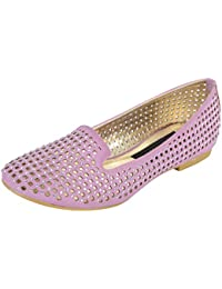 Smitten Formals & Lace-Up Flats For Women ( Rose Pink )