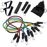 Skaize Latex Expander Power Tubes Set 12teilig | Gummiband Widerstandsbänder für Fitness und Krafttraining