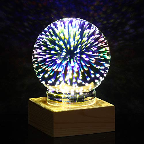 USB Plasma Ball Sphere Lightning Light Magic Crystal Desk Lamp Globe Laptop Decor ()