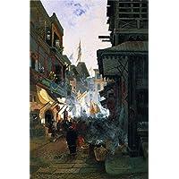 OdsanArt 12 x 18 cm, di altri Impressionism 'Study Chinatown San Francisco, in California by Edwin Deakin Fine Art Prints-Stampa fotografica di alta qualità su tela
