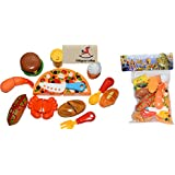 Vibgyor Vibes™ 12 Pcs Kitchen Role,Restaurant Role Pretend Play Fast Food Set Toy For Kids (Boys And Girls).
