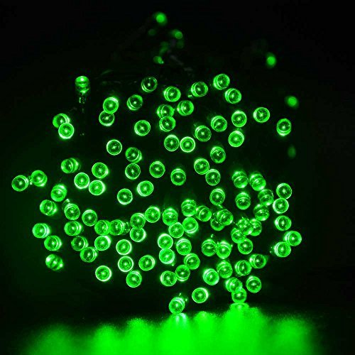 lederTEK Solar Powered Waterproof Fairy String Lights 72ft 22m 200 LED 8 Modes Christmas Decorative Lamp for Outdoor, Garden, Home, Wedding, Xmas Tree New Year Party (200 LED Green)