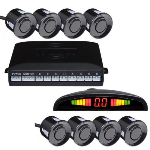 Hengda KFZ Summer Rückfahrwarner Einparkhilfe 8 Sensoren 4 vorne 4 hinten Led display PDC Sensor