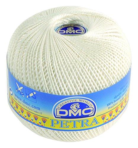 Dmc petra gomitolo di filato, 100% cotone, colore: bianco sporco, misura: 5