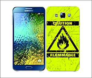 Galaxy Printed 1503 Caution Flammable Hard Cover for samsung E7