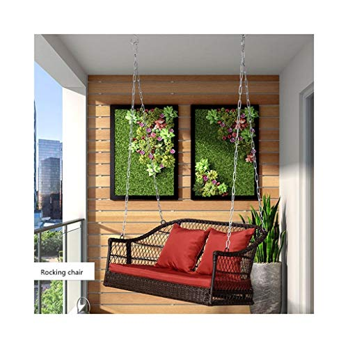 HYYTY-Y Schaukelstuhl im Freien, feuchtigkeitsbeständiger Terrassen-Klubsessel aus Rattan, fauler Gartenschlafstuhl 702-YY - Espresso-sockel