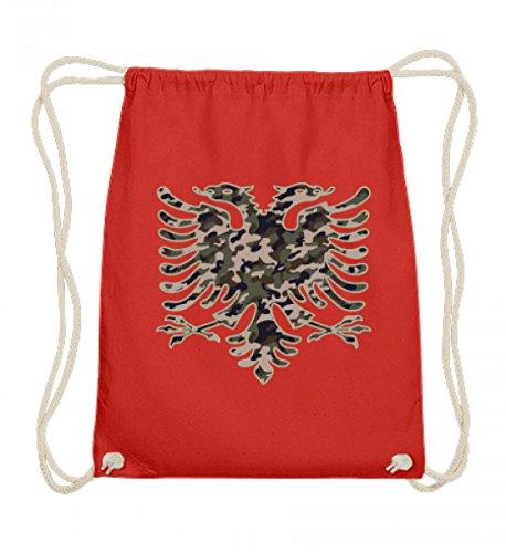 Hochwertige Baumwoll Gymsac - Albanien Camouflage Flagge Albanien Albanischer Adler Geschenk Albanische Fahne Shqiptar Ländershirt (Flagge Camouflage)