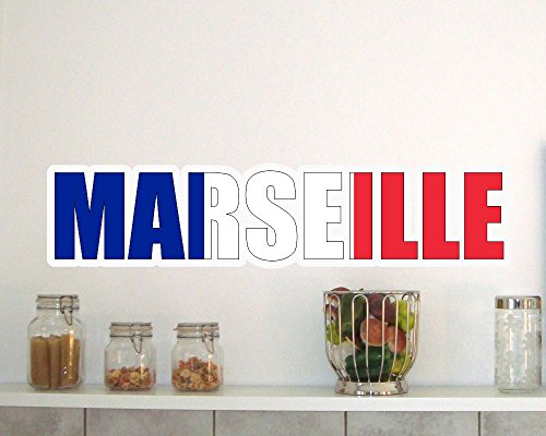 Marseille Schlafzimmer (Wandtattoo Marseille Schriftzug Wandaufkleber in 8 Größen (130x29cm ))