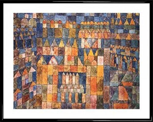 paul-klee-poster-reproduction-et-cadre-plastique-tempelvierter-von-pert-1928-50-x-40cm