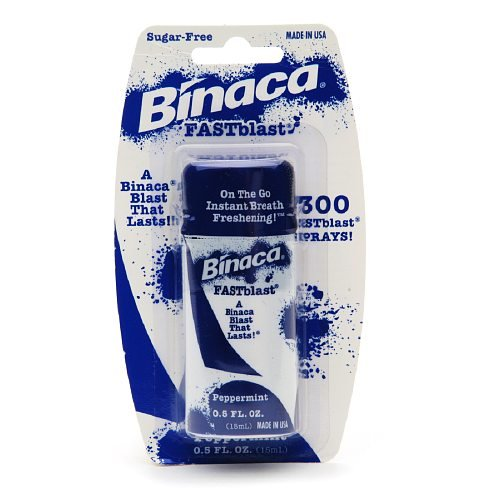 Binaca Fastblast Breath Spray alla Menta (Confezione da 6)