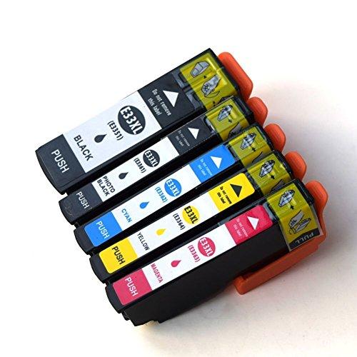 Galleria fotografica caidi 5X Compatibile per Epson 33X L Cartucce d' inchiostro con chip nuovo aggiornato ad alta capacità Compatibile con Epson Expression Premium XP 530XP 630XP 635XP 830XP 640XP 900XP 540XP 645pirnte