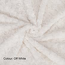 Neotrims Soft Pile Minky Rose Fur Fabric, 20 Colours, Baby Photography Backdrop, Crafts and Apparel. Stunning new Earthy Colours, Swirl Rose Pattern Fur, Luxury Soft Handle, Best Seller.