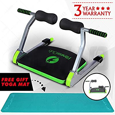 UEnjoy Exercise Equipment Gym AB Trainer Machine Home Body Fitness With Free Yoga Mat