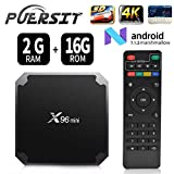 Android 7.1 RAM 2G+16G ROM TV Box X96 Mini Amlogic S905W Quad Core, 4K Ultra HD H.265,HDMI, WiFi Media Player Smart TV Box by Puersit (2G+16G)