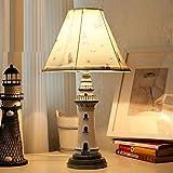 TIAMO Home Store Kindertischlampe amerikanische pastoralen Landschaft Mittelmeer Schlafzimmer Studie Nachtnachtlicht Leuchtturm Geburtstagsgeschenk Tischleuchte