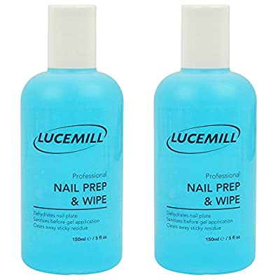 2 x 150mL Lucemill Professional NAIL PREP & WIPE GEL NAIL POLISH CLEANER