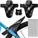 3 PCS Parafango MTB Mud Guard, bike fender anteriori e posteriori Bicycle Fenders , 10 * fascette (grigio)