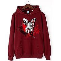 Chaqueta de invierno Jumper Hooded Terry China viento viento chino jersey de manga larga Jersey elástico Stamp,Vino tinto,XL