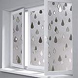 YFXGSTLI Fenster Film Static Scrub Free Kunststoff Regentropfen Glas Fenster Film Badezimmer Balkon Schiebetür Glas Film Fenster Papier Aufkleber 45 * 200 cm