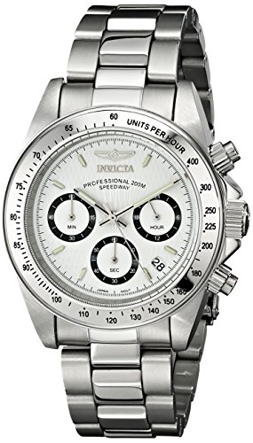 Invicta Speedway - 9211 Orologio da Polso, Cronografo, Uomo, Cinturino Acciaio Inossidabile, Argento