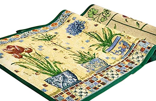 Buyelegant Mosaic / FlowerPot Cocina Runner / Rug Area Alfombra antide