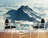 Malilove 3D Wallpaper Benutzerdefinierte Wandbild 3D Raum Wallpaper Alpine Weißen Wolken Hintergrund Wand Foto 3D Wandbilder Tapeten