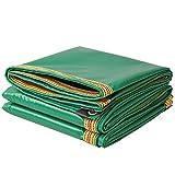 Tarpaulin Oxford Regen Tuch/grün 0,32 mm Plane/LKW-Plane/Sonnenschutz PVC-Plane/Outdoor Schatten Tuch/350 g/qm (Farbe : Grün, größe : 5*10m)