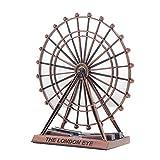 Riesenrad Modell Eisen Riesenrad Ornamente, 10 * 6 * 15cm, Kreatives Hauptwohnzimmer Metallhandwerk Schaufenster Schreibtisch Dekorationen, Riesenrad Geschenk