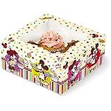 Stor 77728 Caja para 4 Cupcakes Family Bakery en Bolsa para repostería, Compuesto, 25x20x7 cm 4 Unidades