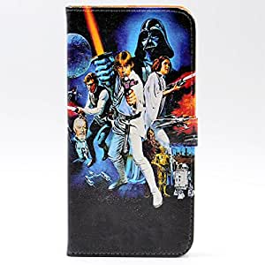 iphone 7 Case Unique A New Hope Characters Vintage Pattern Leather Wallet Credit Card Holder Pouch Flip Stand Case Cover For Apple iphone 7 New