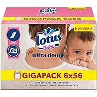 Lotus Baby Ultra Douce - Lingette bébé - 6 paquets de 56 lingettes