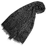 Lorenzo Cana Luxus Damen Pashmina Kaschmirschal 100% Kaschmir jacquard gewebt Paisley Muster Schal Schaltuch Kaschmirtuch Kaschmirpashmina