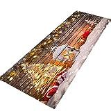 JUNMAONO Weihnachten Teppiche/Teppich/Matte/Fußmatte/Fußmatten/Bodenmatte/Bodenfliese/Schmutzmatten/Fußabtreter/Fußabstreifer/Fußbodenmatte/Sauberlaufmatte/Schmutzfangmatte (40cm×120cm)