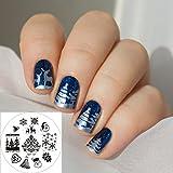 Nail Art Stamping Bild Metal Platte Nail Art Design Muster Vorlage Weihnachten - AP01 - FashionLif