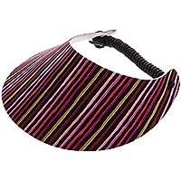 xfore Golfwear XFORE visera de golf Bangur para mujer, de rayas, color blanco, talla única