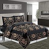 Chambres impériales Ensemble luxueux de couvre-lit matelassé 3 pièces avec ensemble de literie en...