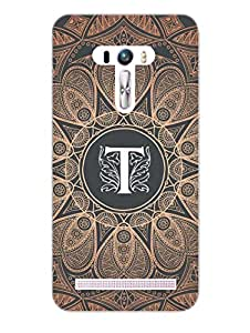 Asus Zenfone Selfie Back Cover - Initial T - Classy And Personalised - Designer Printed Hard Shell Case