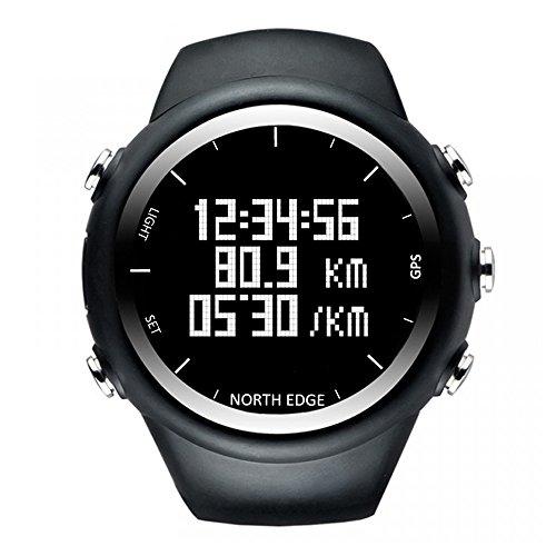 Lixada GPS Uhr Digital Armbanduhr Smart Tempo Geschwindigkeit Kalorien Jogging Wandern Sportuhr 50 Mt Wasserdicht (Digitale Tempo-uhr)