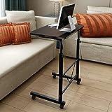 Einstellbare Laptop Tisch Computertisch Schreibtisch Pflegetisch Beistelltisch (Schwarz)
