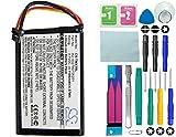 Cameron Sino GPS Batterie Li-Ion, 1100mAh convient pour [TomTom] XXL IQ Routes, 4ep0.001.02, 1ep0.029.01, 5ep0.029.01, remplace [TomTom] R2, 6027A0106201avec 14en 1Kit d'outils réparation Kit
