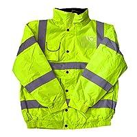 Hi Vis Hi Visibilty Yellow Kids Childs Bomber Jacket Coat Plus a Brook Hi Vis UK Code for your next order