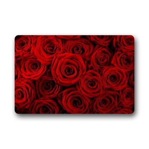 Fantastische Fußmatte Rot Rose Blumenmuster Fußmatte/Front Tür/Bad-Teppich Mats £ ¬ Schlafzimmer Fußmatte 59,9cm (L) X 39,9cm (W)