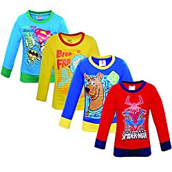 Eteenz .Spiderman Boys Sweatshirt Pack Of 4